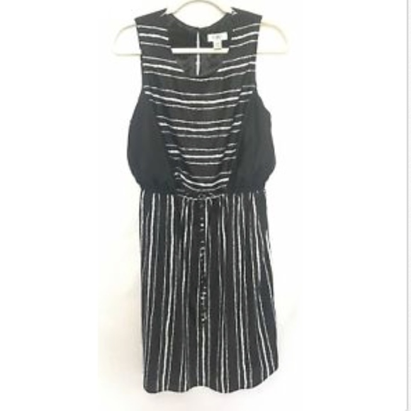 Plus Size Tank Dress Black & White Stripe